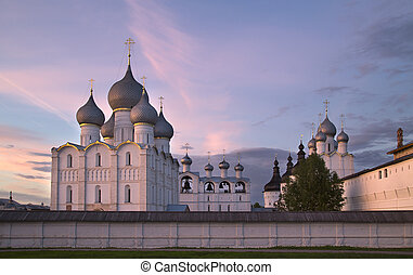 Rostov the Great, Russia. View on old Kremlin. - Rostov the...