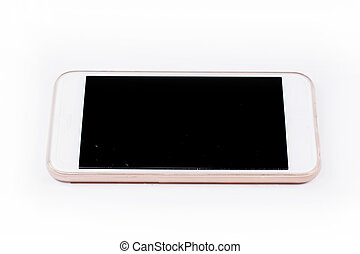 Mobile smart phone isolated on white  background