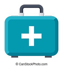 First Aid Kit - First aid kit vector icon in flat style