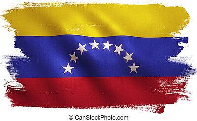 Venezuela Flag - Venezuela flag background with fabric...