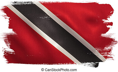 Trinidad and Tobago Flag - Trinidad and Tobago flag with...