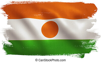 Niger Flag - Niger flag with fabric texture. 3D...