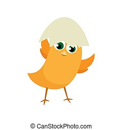 Easter eggs chicks. Vector