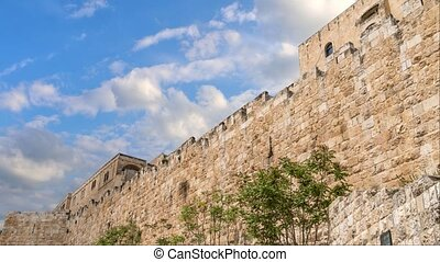 Fortification medieval walls of Jerusalem, Israel