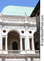 ancient monument called Basilica Palladiana in Vicenza City...