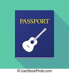 Long shadow passport with a six string acoustic guitar -...