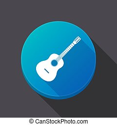 Long shadow button with a six string acoustic guitar -...