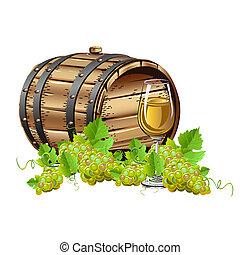 Wooden Wine barrel