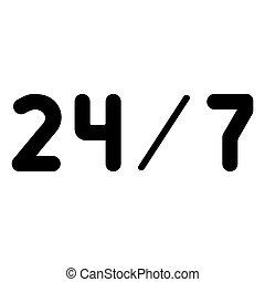 24/7 service the black color icon .