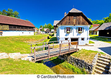 Kumrovec picturesque village in Zagorje region of Croatia,...