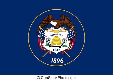 Flag of Utah - Illustration of the flag of Utah state in...