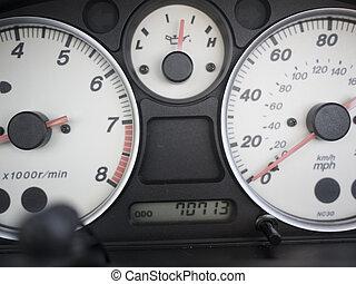 Car dials.