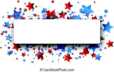 Independence Day banner with stars.
