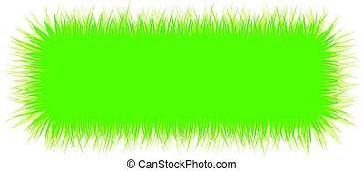 Rectangular banner with green grass.