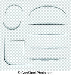 Slotted templates on checkered background. - Set of slotted...
