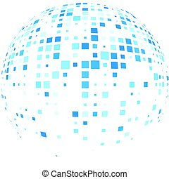 Abstract global communications round background. Vector...