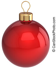 Red Christmas ball bauble - Classic Christmas ball total red...