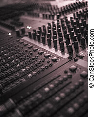 Mixing console.