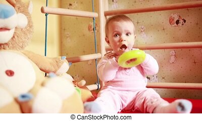 Baby play photo sequence - Baby play with toys, video from...