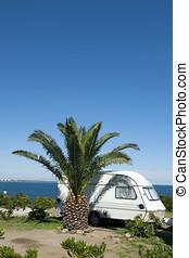 Caravan at the sea side