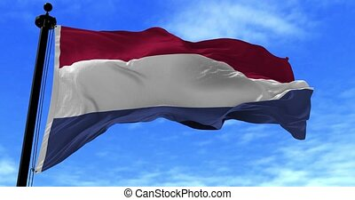 Netherlands Flag in the Wind