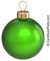 Green Christmas ball bauble classic - Christmas ball green...