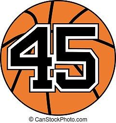 45 basket symbol - Creative design of 45 basket symbol