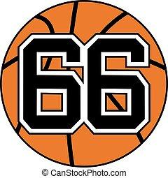 66 basket symbol - Creative design of 66 basket symbol