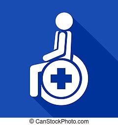 medical wheelchair icon - Creative design of medical...