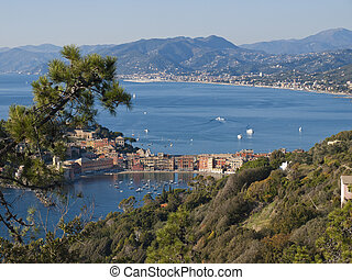 Silence Bay - Sestri Levante seen from the promontory of...