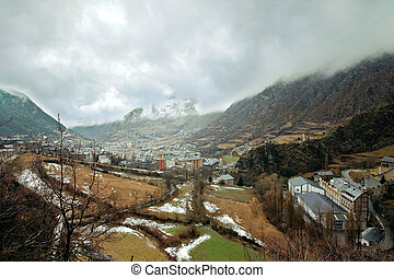 Andorra-la-Vella - The capital of Andorra - Andorra la Vella...