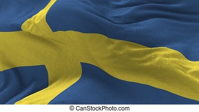 Sweden Flag in the Wind