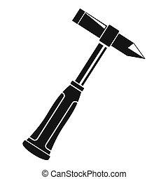Hammer slag of welder icon simple - Hammer slag of welder...