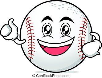 Enthusiastic baseball character cartoon collection