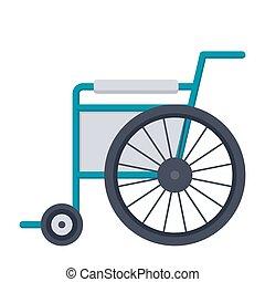 Wheelchair Vector Icon - Wheelchair or wheel chair, vector...