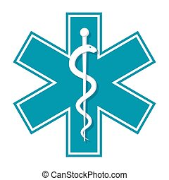 Star of Life - Medical symbol Star of Life, vector icon in...