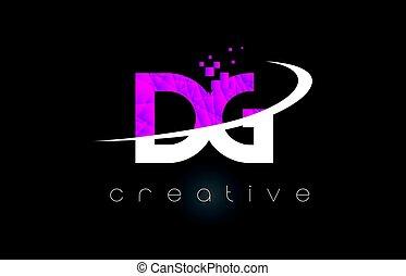 DG D G Creative Letters Design With White Pink Colors - DG D...