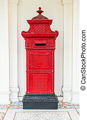 red mail letter box - traditional red mail letter box
