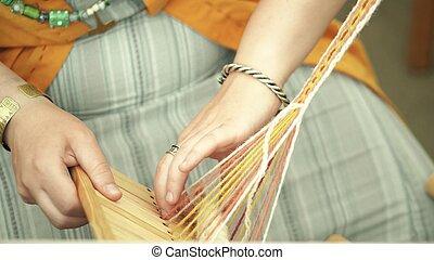 Woolen yarn handicraft