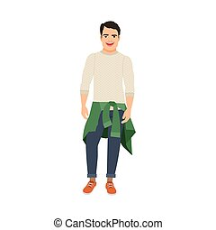 Guy with sweater at the waist