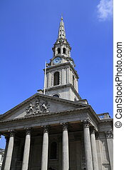The church of St Martin's in the Fields London