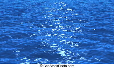 Water waves - Perfeclty looped, high quality realistic ocean...