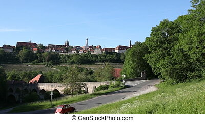 Rothenburg ob der Tauber, Bavaria. - Panorama of Rothenburg...