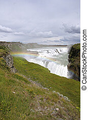 Gullfoss - Iceland. Gullfoss falls in area called Golden...