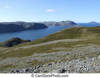 Northern Europe landscape - Landscape near North Cape...