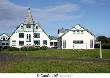 Reykjavik - Architecture in Reykjavik, Iceland. White...