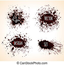Set of brown vector grunge banners.