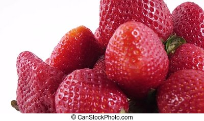 Berries of a strawberry - Rotating glass bowl with...