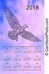 Violet sky calendar year 2018 gull - Business english...
