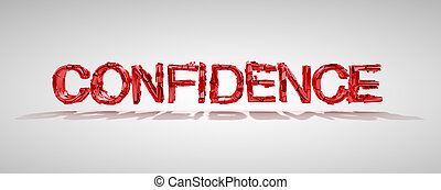 Confidence word destruction - Red confidence word...